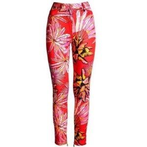 VERSACE H&M tropical palm print jeans like NEW